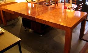 burl wood dining room table burlwood parsons dining table attributed to paul evans sold