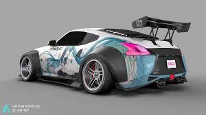 nissan 370z rear bumper artstation nissan 370z widebody anton kavousi