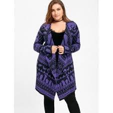 Draped Cardigan Sweater Purple 5xl Halloween Plus Size Skull Sweater Drape Cardigan