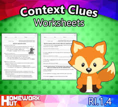 ri 1 4 unknown words and context clues worksheets by homework hut
