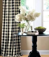 Brown Gingham Curtains Black And White Plaid Curtains Medium Size Of Curtains Aqua