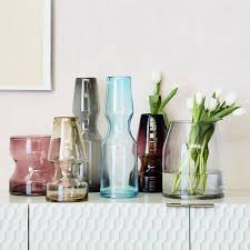 Large Hurricane Glass Vase Canal Glass Vases Hurricanes West Elm
