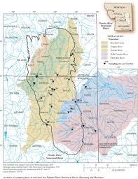 Montana Wyoming Map by Water Quality Characteristics Including Trend Analyses For