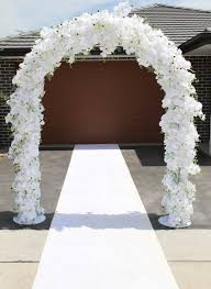 flower arch flower arch white wedding orchid arch doll bridal
