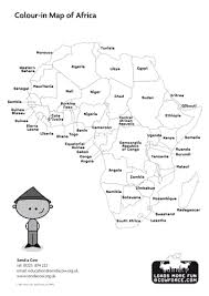 map of africa with country names outline map of africa blank map country names by sendacow