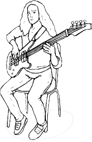 guitar player coloring pages bass guitar player coloring