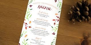 thanksgiving menu printables