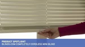 blinds com completely cordless mini blind youtube