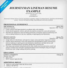 lineman resume cover letter electrical resume examples electrical