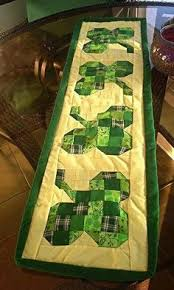 st patrick s day table runner st patrick s day table runner by crochet adventure designed by