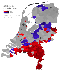The Netherlands Map Religions In The Netherlands 1918x2317 Oc Mapporn
