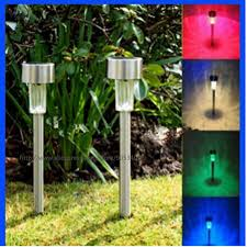 multi color led landscape lighting outdoor solar power lawn ls waterproof color changing multicolor