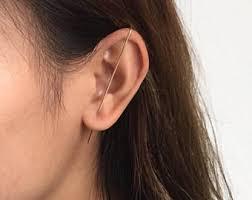 ear pin gold triangle ear pin geometric ear crawler ear spear
