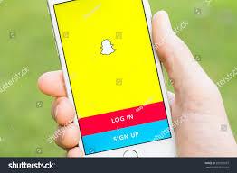 milan italy october 29 2016 snapchat stock photo 509355037