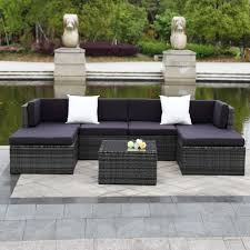 Deals On Patio Furniture Sets - ikayaa 7pcs cushioned outdoor patio garden furniture sofa set