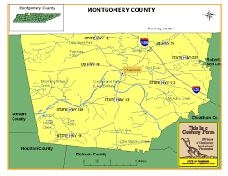 Tennessee Map With Counties by Montgomery County Tennessee Century Farms