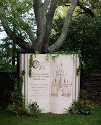 wedding backdrop book fairytale book backdrop these disney wedding details will make