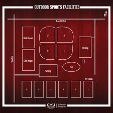 Map Of Central Michigan University by Outdoor Sports Complex Central Michigan University