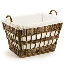 wicker laundry baskets the basket lady the basket lady wicker french laundry basket antique walnut brown one size size 1