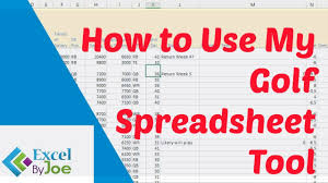 My Spreadsheet How To Use My Golf Spreadsheet Tool Youtube