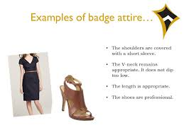 badge attire what is u201cbadge attire u201d badge attire can best be