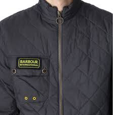 barbour bowmore quilted jacket in gray for men lyst