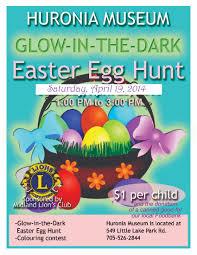 glow in the dark easter egg hunt huronia museum