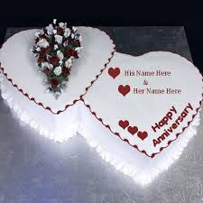 wedding wishes on cake happy wedding anniversary wishes cake with name for