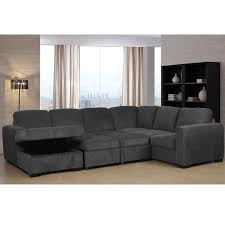claire leather reversible sectional and ottoman claire full sleeper sectional with storage chaise sleeper