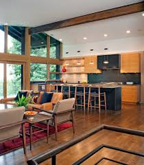 rustic open floor plans kitchen contemporary with blue ridge