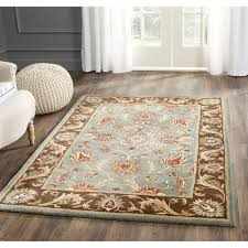 pretty design ideas blue and brown rugs lovely living room mohawk