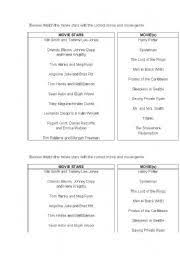 english worksheet film genres film resources book to movie