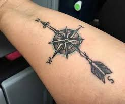 arrow compass tattoo meaning