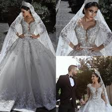silver wedding dresses dubai arabic lace wedding dresses silver applique