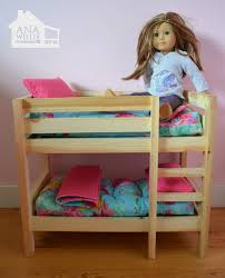 how to make american girl doll bed ana white doll bunk beds for american girl doll and 18 doll