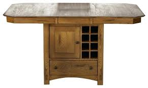 Drop Leaf Pub Table Bar Height Table With Wine Storage Dining Table With Wine Storage