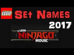 the lego ninjago movie official set names youtube