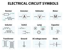 electronic circuit symbols stock photos image 26171663