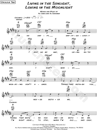 ukulele tutorial get lucky tiny tim living in the sunlight loving in the moonlight sheet