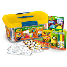 Minion Desk Accessories by Crayola Minions Creative Art Supply Set Includes Crayons Markers