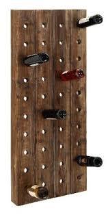 farmhouse wooden wine rack pegboard wall mount bottle storage