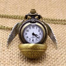 quartz necklace watch images Golden pocket watch necklace jpg