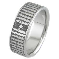 bullet wedding rings s laser carved titanium bullet ring titanium buzz
