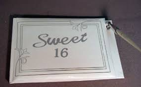 sweet 16 sign in book the brat shacksweet 16 guest sign in book