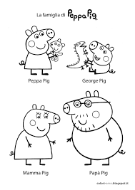 cartoon printable peppa pig and friends coloring pages