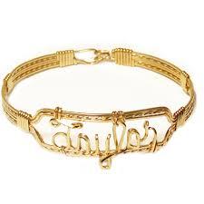 gold name bracelet gold square wire name bracelet