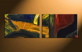 2 piece colorful home decor abstract large pictures