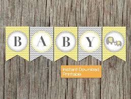 yellow and gray baby shower baby shower banner yellow grey by bumpandbeyonddesigns on zibbet