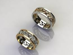 2 wedding bands vas 2 wedding rings any size 3d printable model cgtrader