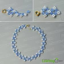 glass beads necklace images Pandahall tutorial on how to make flower glass beads necklace with jpg